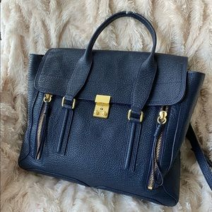 3.1 Phillip Lim Pashli Large Satchel Ink Navy